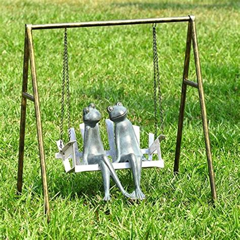 swing the statue 14 best frog garden statues and sculptures for sale