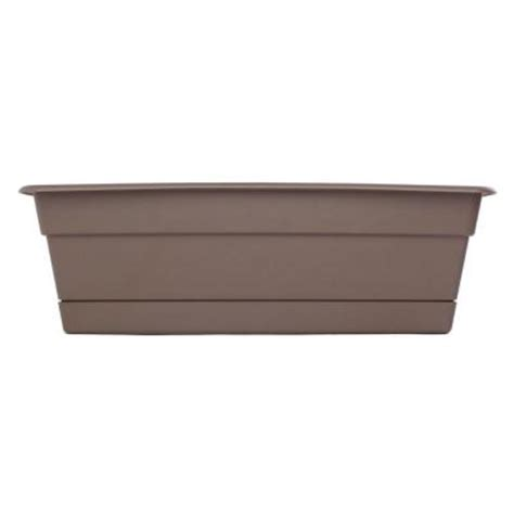 home depot window boxes bloem 30 in curated dura cotta plastic window box dcbt30