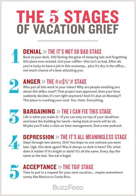 The Stages Of Grief Vacation Edition by 17 Best Ideas About Vacation Humor On