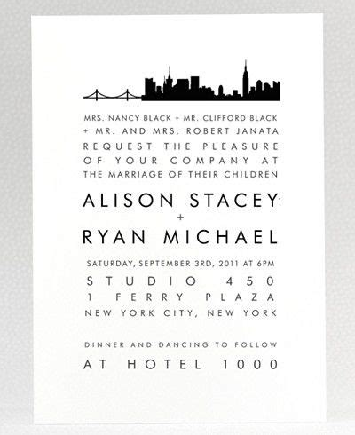 new york city skyline wedding invitations new york city skyline wedding invitation new york shower