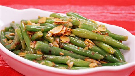 Simple Main Dish - green bean almondine dishin with di cooking show recipes amp cooking videos