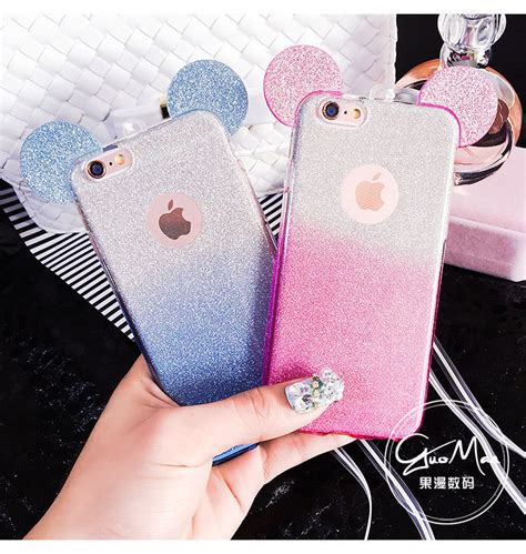Mickey Bling Back Cover For Iphone 6 Plus 6s Plus new disney bling glitter mickey tpu soft cover