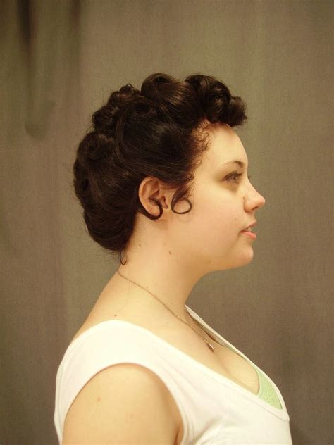 fifties updo 1950s updo 2 by guiltywithglee on deviantart