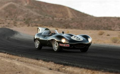 one of six jaguar d type works nose heading to