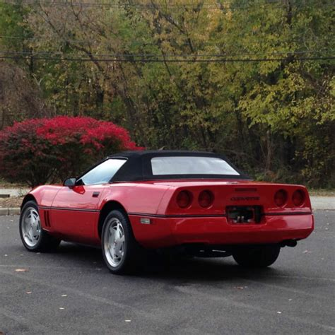 automobile air conditioning service 1989 chevrolet corvette electronic valve timing 1989 corvette convertible red w black top original 24k mile car