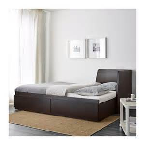 Ikea Guest Bed With Storage Flekke Day Bed Frame With 2 Drawers Black Brown 80x200 Cm