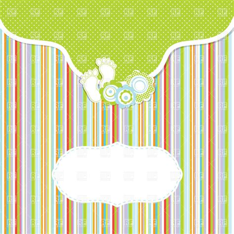 clipart greeting card template motley childish stripy greeting card template vector image
