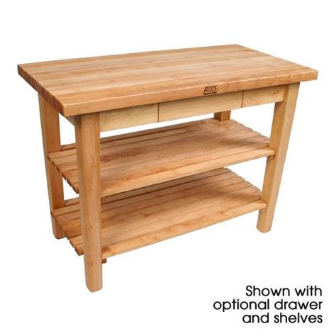 john boos classic country work table kitchen island 48 quot x john boos c6030 n 60 quot x 30 quot natural classic country