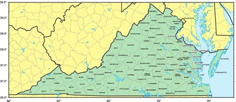 va county map virginia counties map map3
