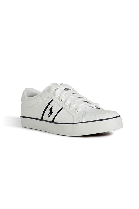 polo white sneakers polo ralph white canvas bolingbrook sneakers
