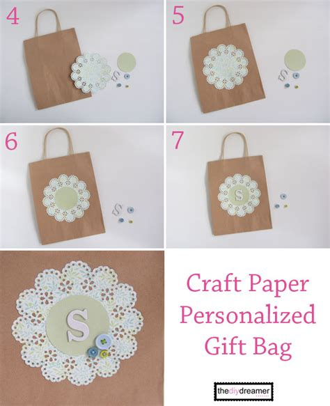 Martha Stewart Craft Paper - craft paper personalized gift bag the d i y dreamer