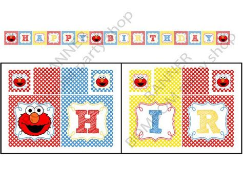printable elmo banner 117 best images about elmo party on pinterest sesame