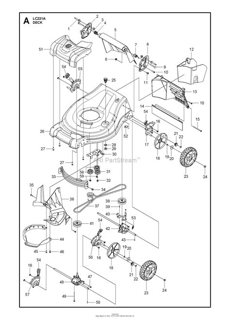 husqvarna lawn mower parts diagram husqvarna lc221a 96145002601 2016 09 parts diagram for