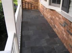 Painting Floor Tiles In Kitchen - how to paint concrete porch u design blog