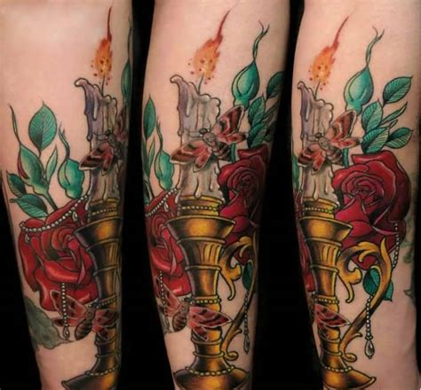 burning rose tattoo fabulous flying butterfly and lovely flower on