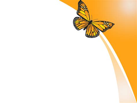 orange butterfly design powerpoint templates orange