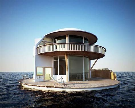 floating house boat round houseboat very cool houseboats floating