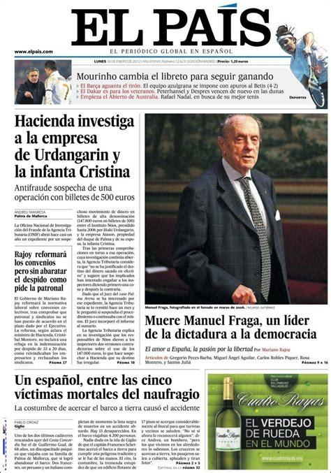 lunes 16 de enero de 2012 portadas periodicos 16 de enero de 2012 periodicos
