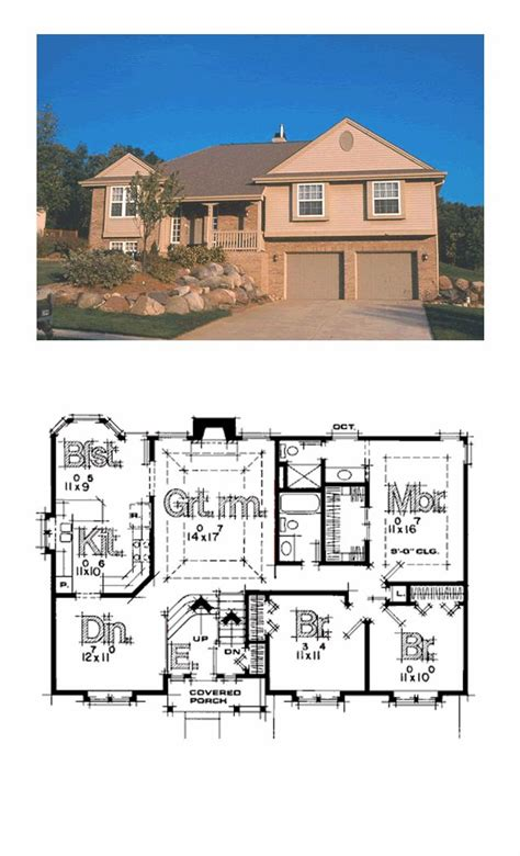 cool home floor plans best 16 split level house plans images on pinterest design