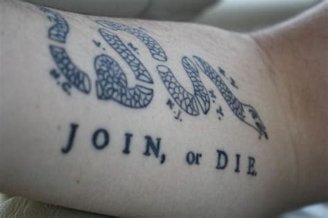 join or die tattoo join or die if you want a thorough article on the