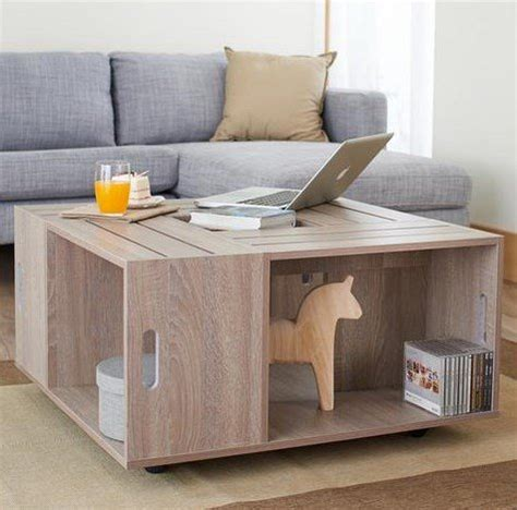 Crate Style Coffee Table Product Reviews Buy Rustic Square Crate Style Wood Like Coffee Table With Open Shelf And