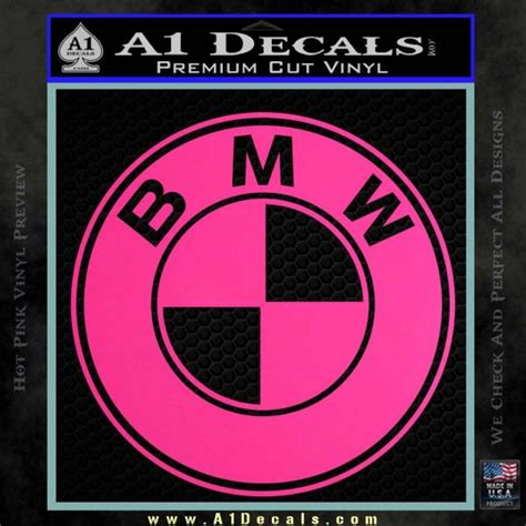 Bmw Pink Sticker by Bmw Official Emblem Decal Sticker 187 A1 Decals