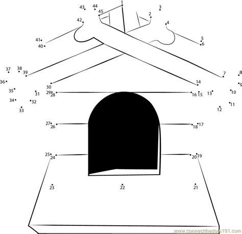 printable dot to dot house dog house decoration with bones dot to dot printable