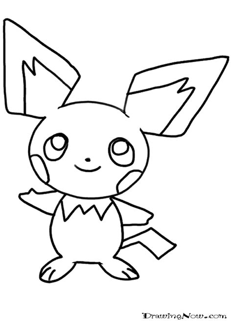 free coloring pages of pichu pokemon