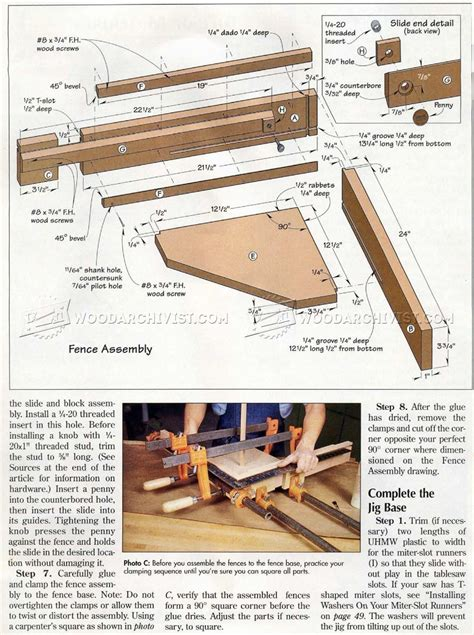 table saw miter table saw miter jig plans woodarchivist