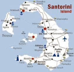 Santorini map detailed map of santorini island