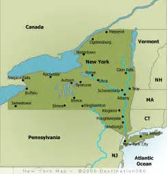 Map Of New York State With Major Cities new york map map of new york state
