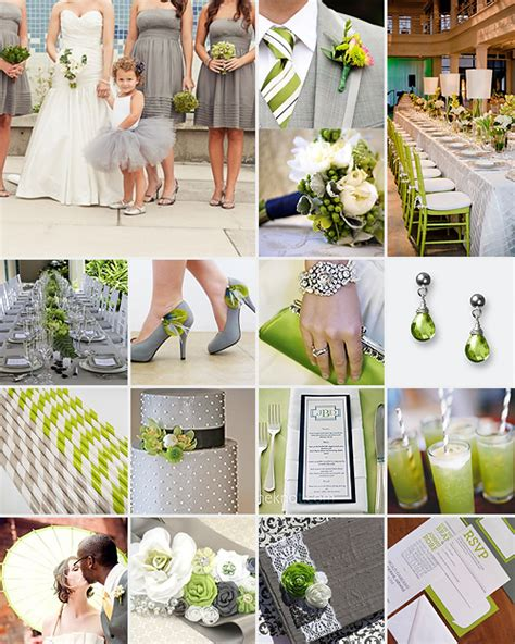 green and gray wedding colors lime green and grey weddings