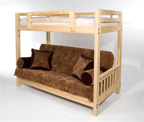 Futon Bunk Bed Frame Only by The Ultimate Space Saver Solid Wood American Made And