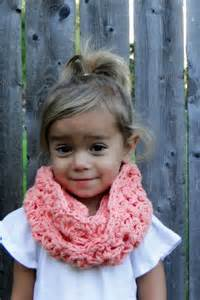 Kids scarf girls crochet cowl kids infinity scarf toddler cowl