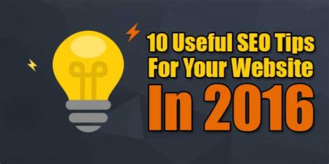 Seo Guide 2016 by 10 Useful Seo Tips For Your Website 2016 Exeideas Let