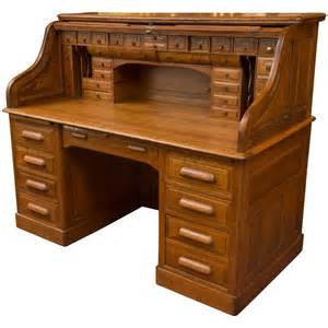 Roll Desk by Exceptional Oversized S Type Oak Roll Top Desk At 1stdibs