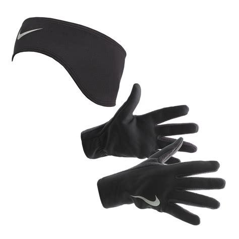 nike thermal headband and glove s running set