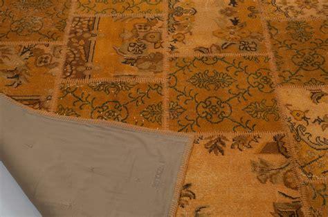 10 X 10 Turkish Kilim Rugs In Oranges - k0006149 orange dyed turkish patchwork rug 7 10 x