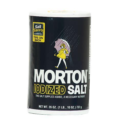 home goods salt l morton iodized salt 26 oz sugar salt flour home