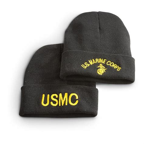 knit caps surplus embroidered knit caps 2 pack 616824