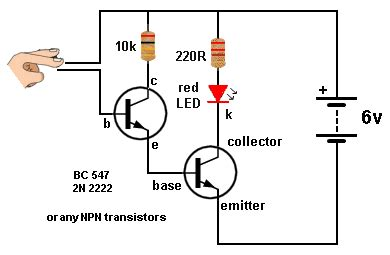 base resistor for 2n2222 basic electronics 1a