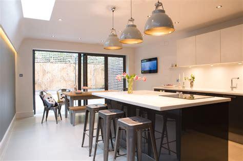 modern kitchen design in loft extension london by belsize crouch end kitchen extension loft conversion