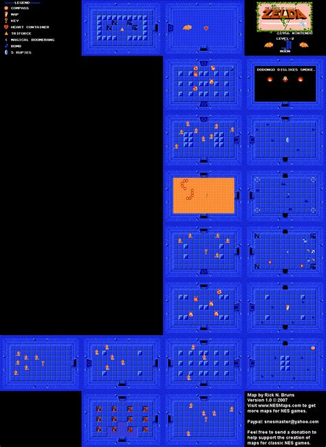 legend of zelda map nes the legend of zelda level 02 quest 1 map png
