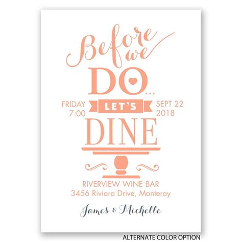Rehearsal Dinner Invitations by Let S Dine Mini Rehearsal Dinner Invitation Invitations