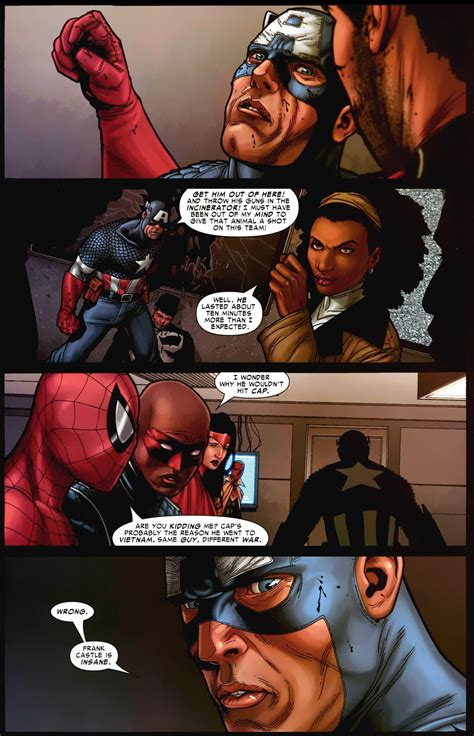 captain america kicks  punisher    team civil war comicnewbies