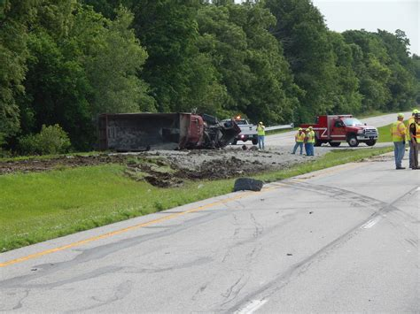 Lu Emergency Xrb overturned dump truck causes us 40 blockage in putnam
