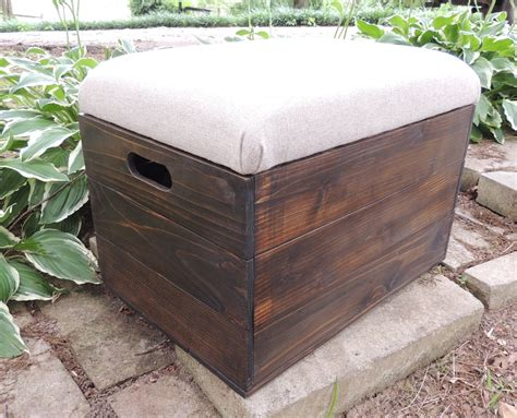 Wood Crate Ottoman Rustic Cedar Wooden Crate Ottoman Foot Stool By Freestatecrates