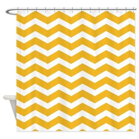 chevron yellow curtains mustard yellow chevron shower curtain by inspirationzstore