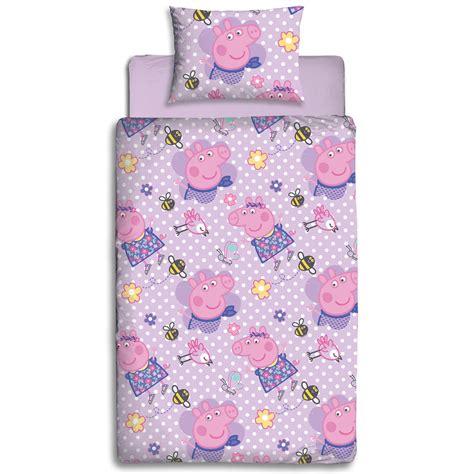 Peppa Pig Bed Set Duvet Peppa Pig Happy Single Duvet Cover Set Reversible New Bedding Ebay