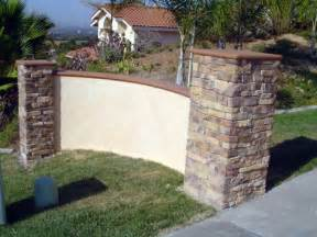 stone and stucco wall for my spanish house pinterest